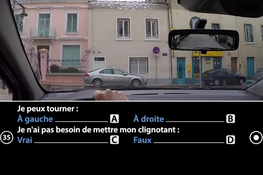 question vidéo code de la route